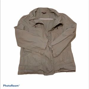 Le Chateau grey military jacket size Small